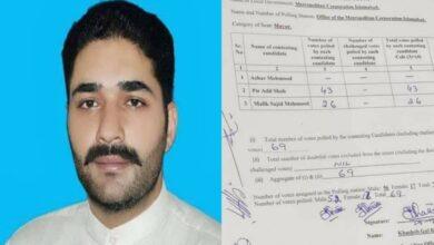 Photo of مسلم لیگ ن کےامیدوار پیرعادل شاہ نے میئراسلام آباد کا الیکشن جیت لیا