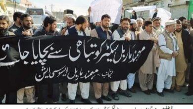 Photo of حکومت کی طرف سے مہمند ماربل پر بے تحاشہ ٹیکس لگانے کے خلاف لوگ  سڑک پر نکل آئے۔
